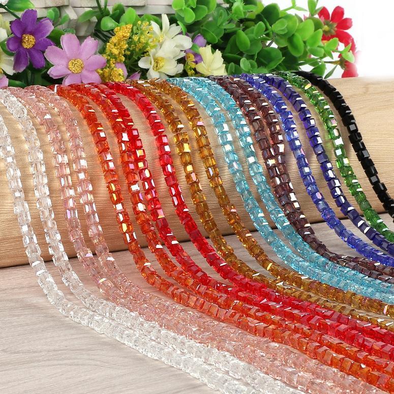 Yanqi блестящие треугольные стеклянные бусины 6 мм 100 шт Хрустальные стеклянные бусины для самостоятельного изготовления ювелирных изделий браслет ручной работы