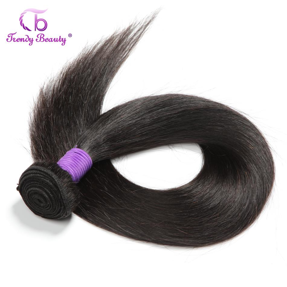 Straight Hair 3/4 Bundles 100%  Bundles Non- 8-30 Inches Double Weft  Trendy Beauty 5
