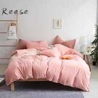 Woven Cotton Bedding Sheet Set Knitting Durable In Use Home Textile Comforter Cover Flat Fitted Sheet King Queen Twin Full Size