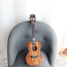 Demo~Handmade Ukulele Concert/Tenor AAAAA solid Tiger-stripe Koa Body String Musical instruments Shipping time 8-13 days цена