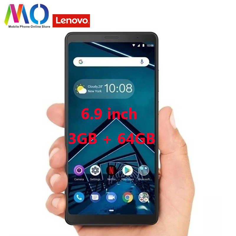 Asli Globla Versi Lenovo TAB V7 PB-6505M 5180 MAh 6.9 Inch 2/3GB RAM/64 GB ROM Snapdragon 450 Octa Core 4G Mobile Phone