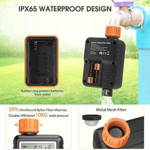 Image 5 - Temporizador de agua automático electrónico con pantalla LCD, controlador de aspersor para jardín al aire libre, dispositivo de riego automático, herramientas de riego