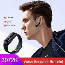 3072 кбит/с Профессиональный активированный Аудио Диктофон наушники