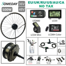 Rear-Rotate-Hub Motor-Wheel Conversion-Kit Electric-Bike Brushless 500W Gear 700C SOMEDAY