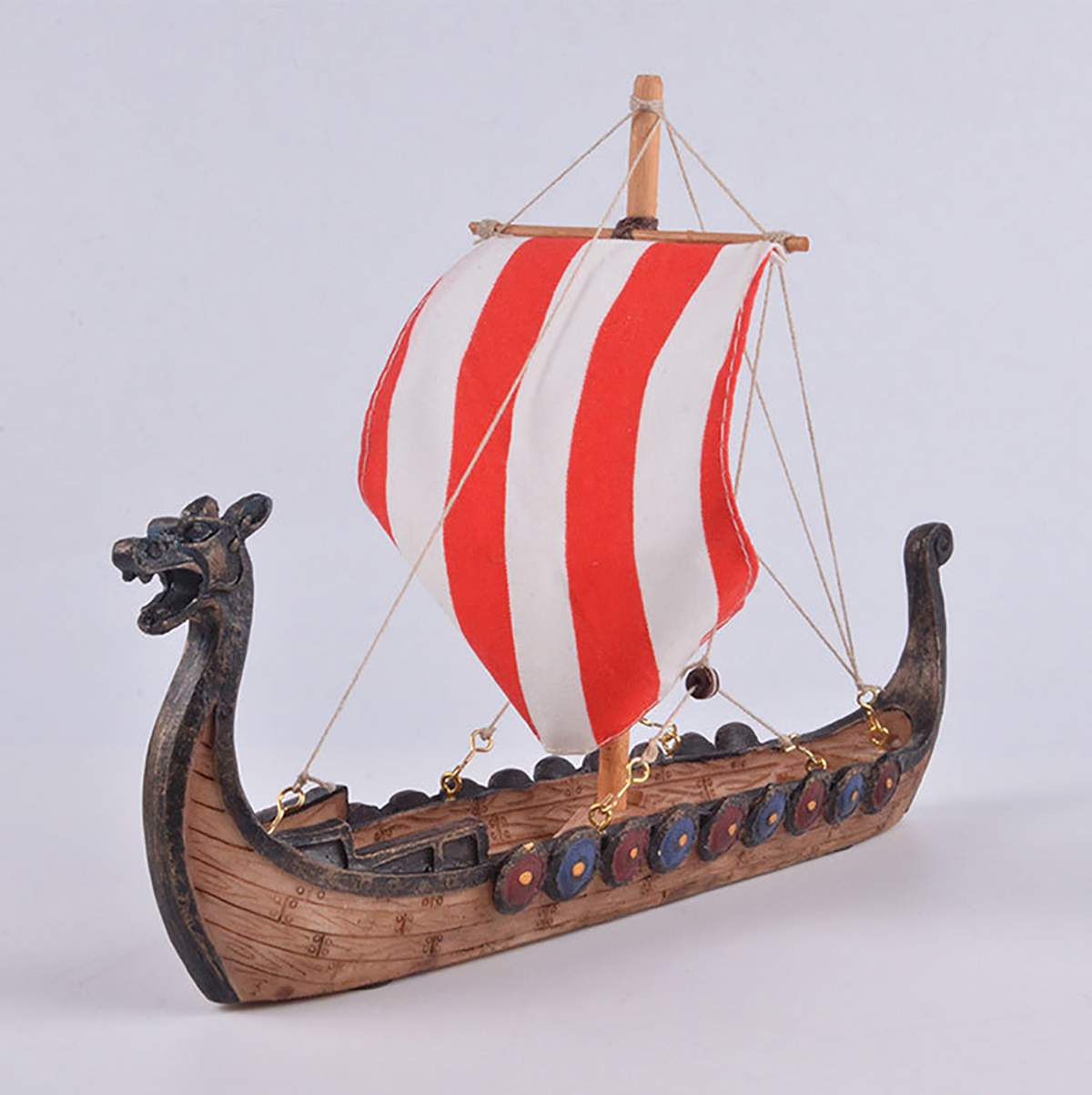 Viking Longship Dragon Boat Ornaments Carved Resin Craft Home Decorations Vikings Ships Sailing Model Toy Gifts Pirate Boat