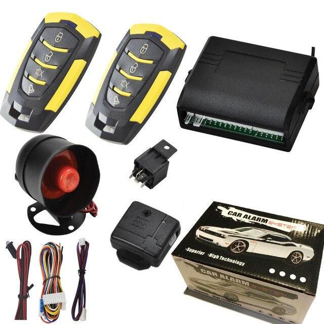 2019 hohe Qualität 12V Auto Auto Fernbedienung Alarm Zentrale Tür Verriegelung Fahrzeug Keyless Entry System Kit Auto Styling dfdf