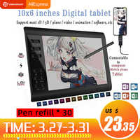 10*6 ''IPS HD Graphics Zeichnung Digital Tablet Monitor Pen Display 233 Punkt Schnell Lesen Druck Sensing Universal