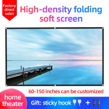 LEJIADA 16:9 Hight-Density Portable Folding Home Outdoor KTV Office 3d HD Projector Projection Sotf Screen