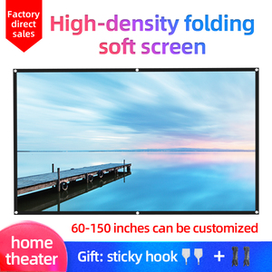 LEJIADA 16:9 Hight-density Portable Folding Sotf Screen Home Outdoor KTV office 3d HD projector screen projection screen