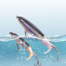 Whopper Fishing-Lure Artificial-Bait Rotating-Tail Hard Geer-Pesca Soft GOBYGO 1PCS 10cm/14cm