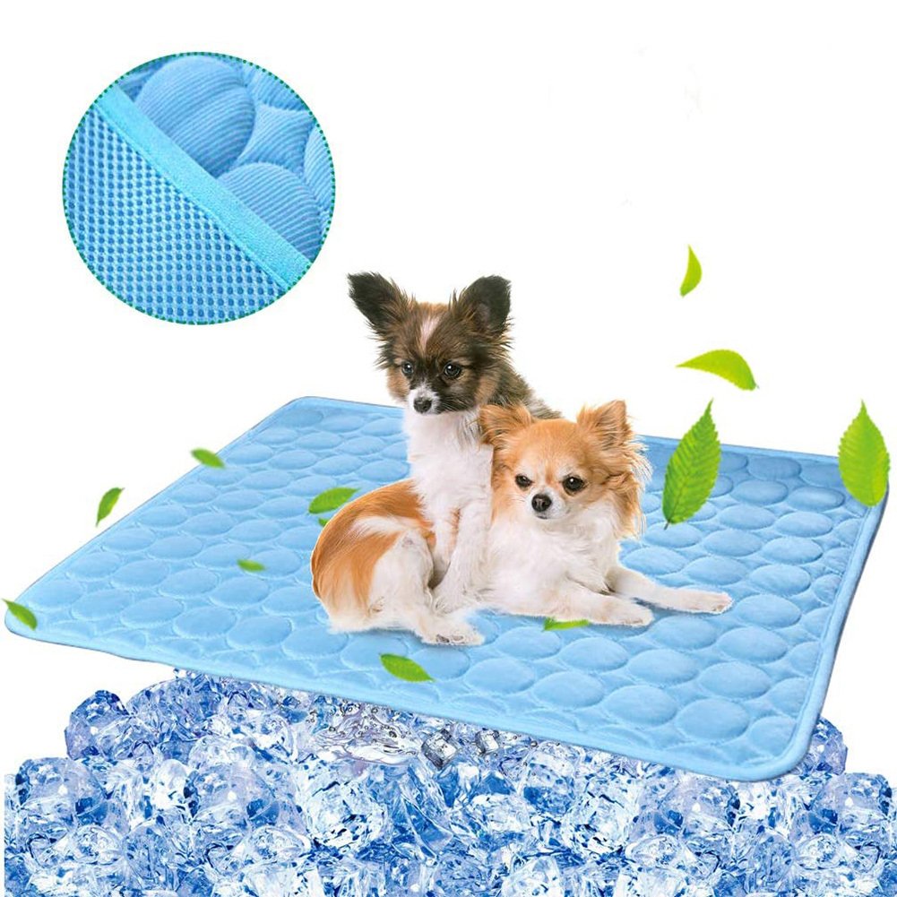 Pet Cat Cooling Mat Pad  Dogs Cats Ice Silk Blanket Self Cool Summer Sleeping Bed Cushion for Kennel/Sofa/Bed/Floor/Car Seats Houses, Kennels & Pens    - AliExpress