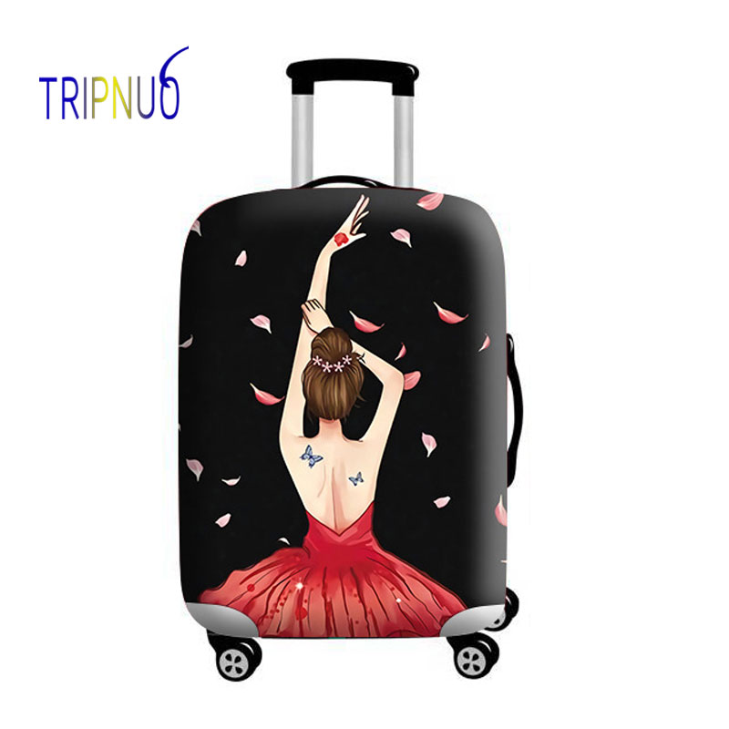 TRIPNUO Girl Elastic Luggage Protective Cover Case For Suitcase Protective Cover Trolley Cases Covers Xl Travel Accessories 3D