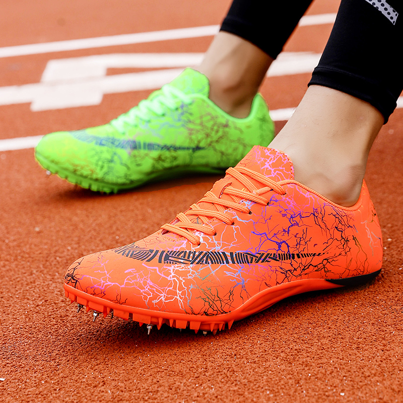 Track Field Spikes Men Women Running Nails Sneakers Professional Racing Shoes Boy Girl Athletics Spike Shoes Sport Running