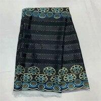 High quality silk fabric for lady dress embroidered george silk fabric African metallic silk fabric 114cm/8mm 5+2 yards TX08285
