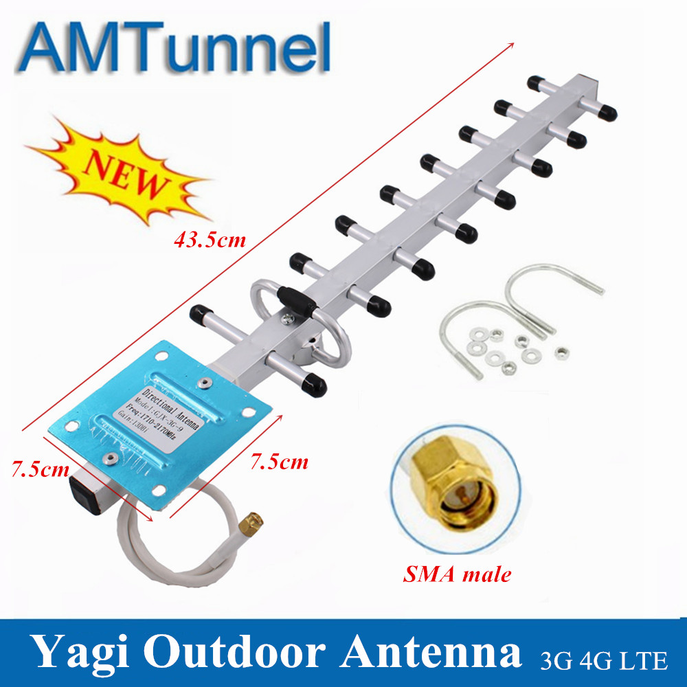 Outdoor Antenna 4G LTE Antena 3G 1800MHz Directional Yagi Antenne 2100MHz 13dBi SMA Male For Routers Or Mobile Signal Boosters