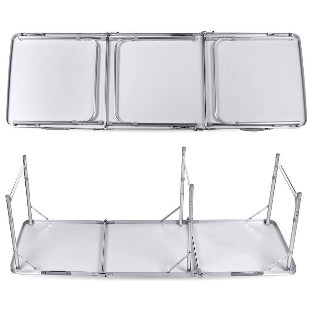 Home Use Aluminum Alloy Portable Folding Table For Family Reunions Picnics Camping Trips Buffets Barbecues 180 X 60 X 70cm