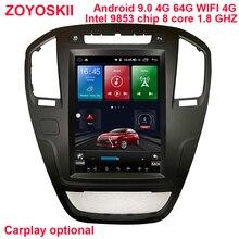 64G rom Android 9,0 os 10,4 pulgadas vertical coche gps reproductor multimedia para el Opel insignia 2009-2013 carplay