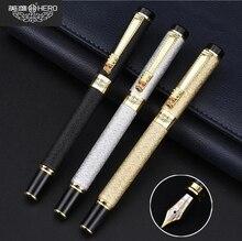 Free Shipping Genuine Hero 6006 Metal Fountain Pen Luxury Gold Dragon Head Gift Pen 6 Colors Buy 2 Pens Send Gift стоимость