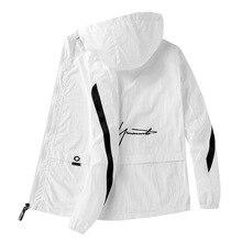 Male Windbreaker Mens Sun protection Clothing Coats Jackets Men Thin Hooded Light Patchwork Waterproof Outwear Summer