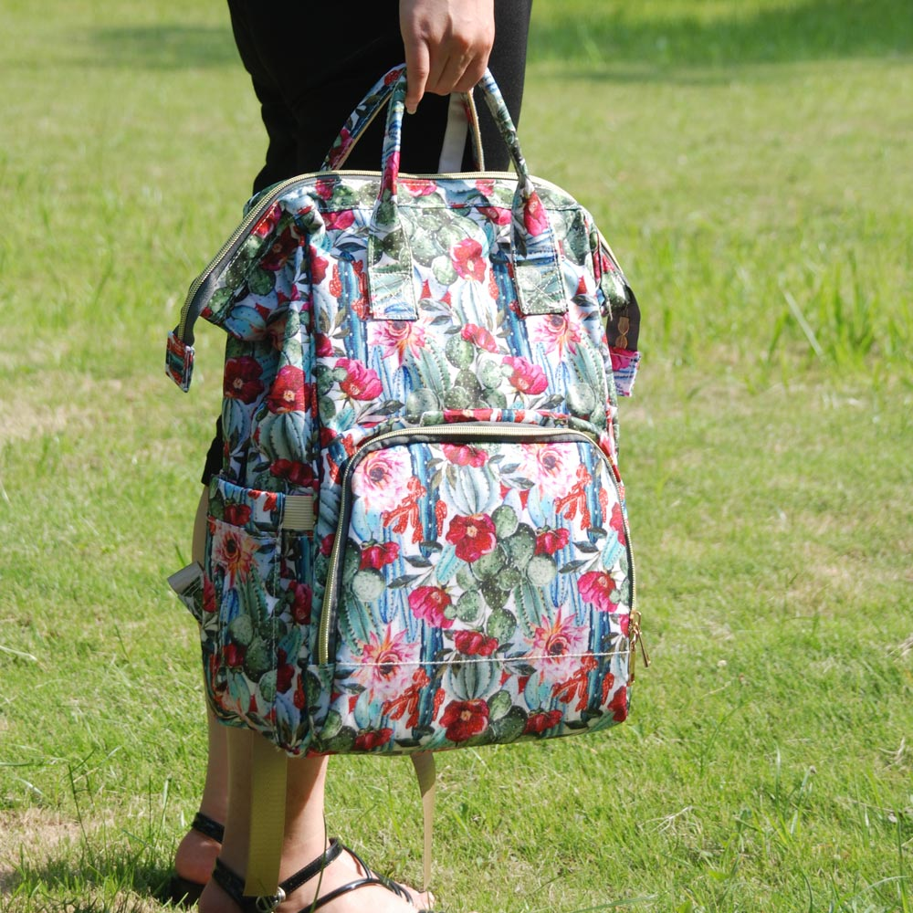 Bagaj ve Çantalar'ten Sırt Çantaları'de 2 adet Kaktüs Çiçek bebek Bezi Çantası Bebek Hırka Bakım Nappy Çantası Büyük Kapasiteli Sırt Çantası Seyahat Çantası Ücretsiz Kargo DOM1276'da  Grup 1