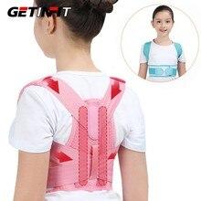 Crianças ajustável postura corrector volta apoio cinto crianças ortopédico espartilho para a coluna lombar costas ombro cintas saúde