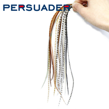 "Persuader 10feathers pack Whiting rooster saddle 6-9"" long mixed NAT colors dry fly tying feathers trout flies tying materials"