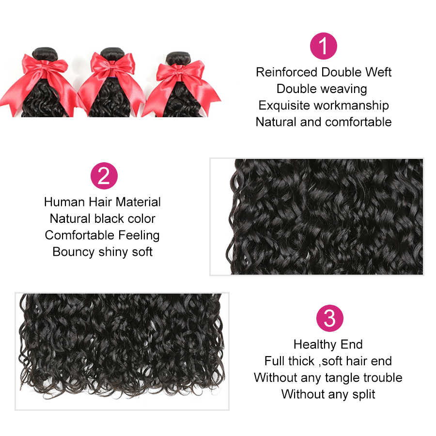 40 zoll Bundles Wasser Welle Bundles 1/3/4 PCS Brasilianische Haarwebart Bundles Alianna Menschliches Haar Bundles 8-40 Zoll dicken Remy Haar
