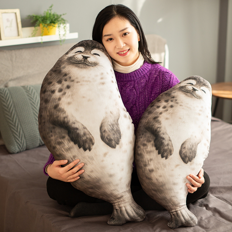2020 new cute fat Simulation Seal Pillow round special super soft Plush Toy creative high quality birthday gift for kids friends image