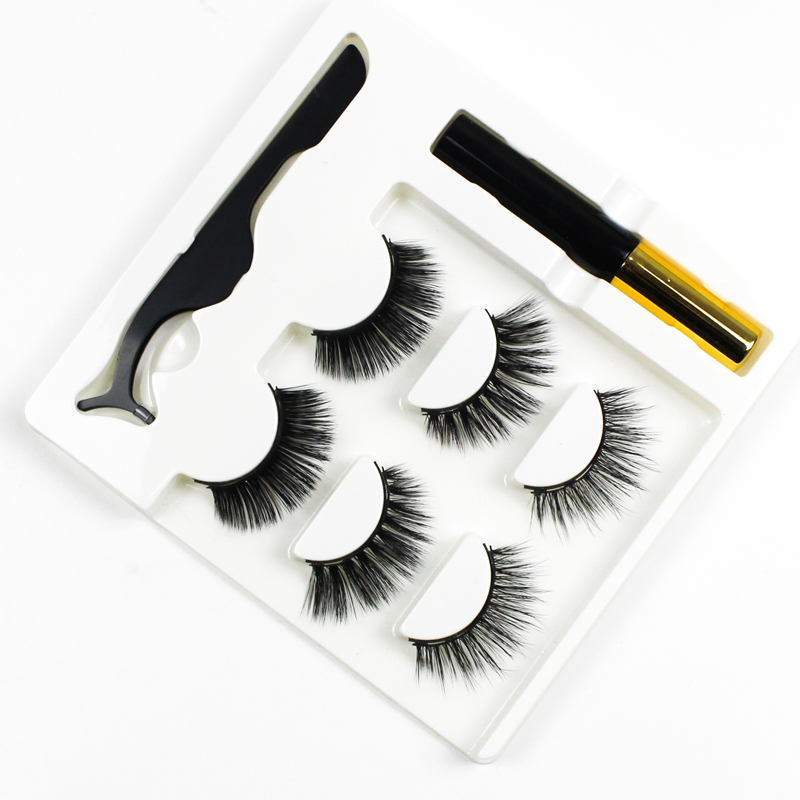 Grafting World Strong Magnetic Eyelash Strip 5 Magnet Strip Lashes With Applicator And Tweezer Water Wind Proof