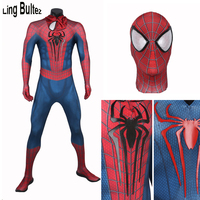 Ling Bultez High Quality Muscle Shade Amazing Spiderman Costume Newest 3D Logo Spiderman Suit 3D Print Super Hero Fullbody Suit