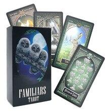 Tarô deck familiars adivinhação destino deck jogo de tabuleiro família jogando cartões de aniversário presente
