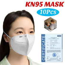50pcs KN95 Mask N95 Mask FFP2 Mouth Face Mask 95% Filtraion Cotton Masks Anti-Dust 4-layer Protective Cover Mask Fast Shipping