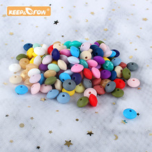 Necklace Baby Pendant Lentil Rodent Silicone Beads Children's-Products Food-Grade Grow