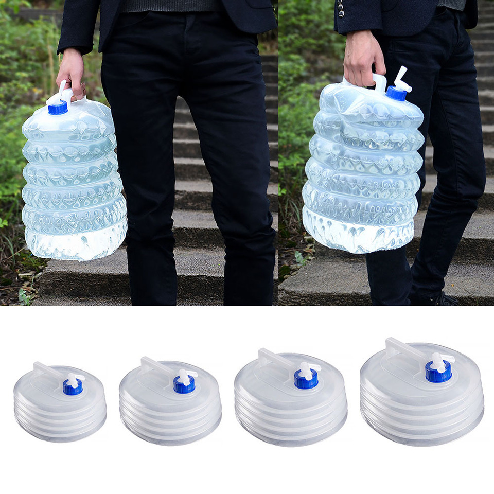 Bucket Collapsible Water Containers Portable Transparent Outdoor Accessories New