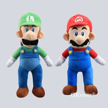 42cm Mario Series Mario Luigi figure plush stuffed doll toys Pillow Soft Sleeping toys big size Children Kids Gift 40cm high quality super mario bros mario luigi stuffed plush dolls soft toys gift for children big size 2pcs lot free shipping