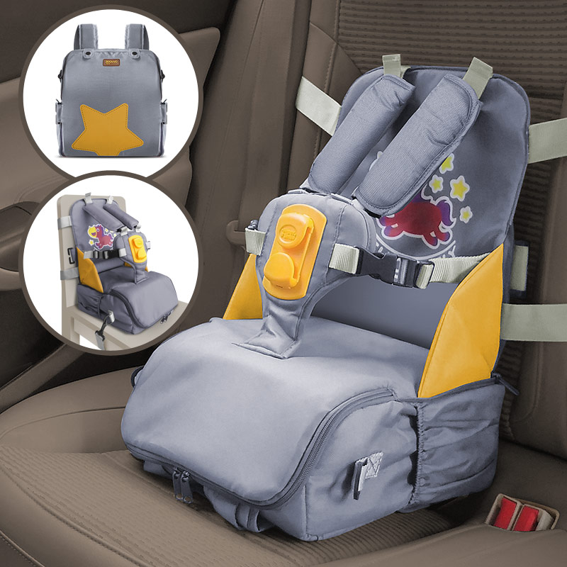 3 In 1 Child Car Safety Seat Storage Box With Harness Buckle Diaper Mommy Bag Portable Baby Dining Highchairs Kids Car Seat Belt