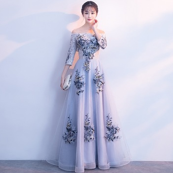 Embroidery Oriental Style Dresses Chinese Bride Vintage Traditional Wedding Cheongsam Dress Long Qipao Modern Robe Size XS-XXL