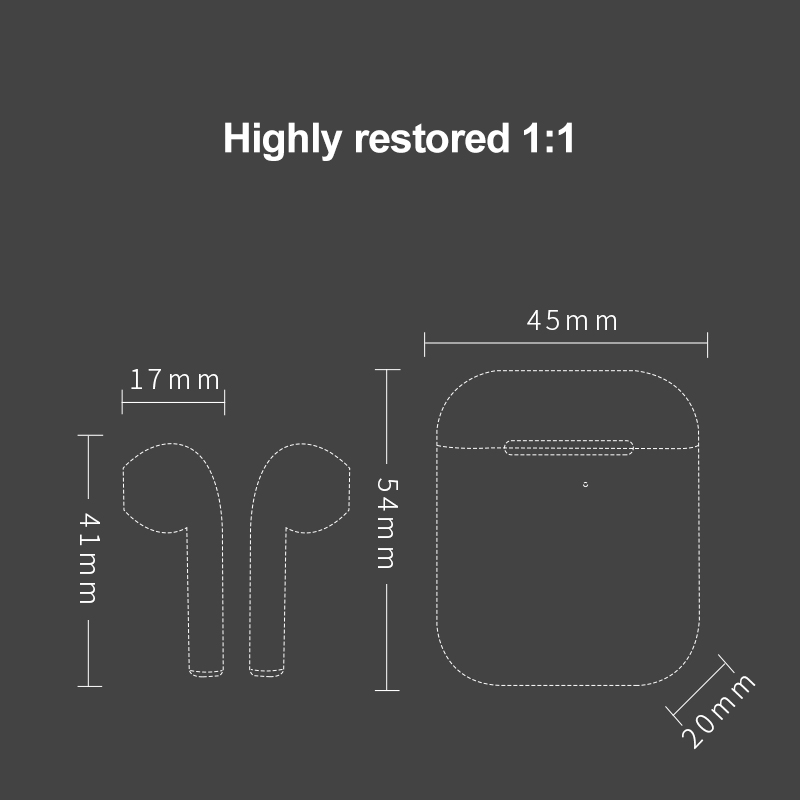 cheapest 99percent 1 1 Air 2 Wireless Earphones GPS Rename Smart Light Sensor Bluetooth 5 0 Earbuds Pops-up Wireless Charger Headsets