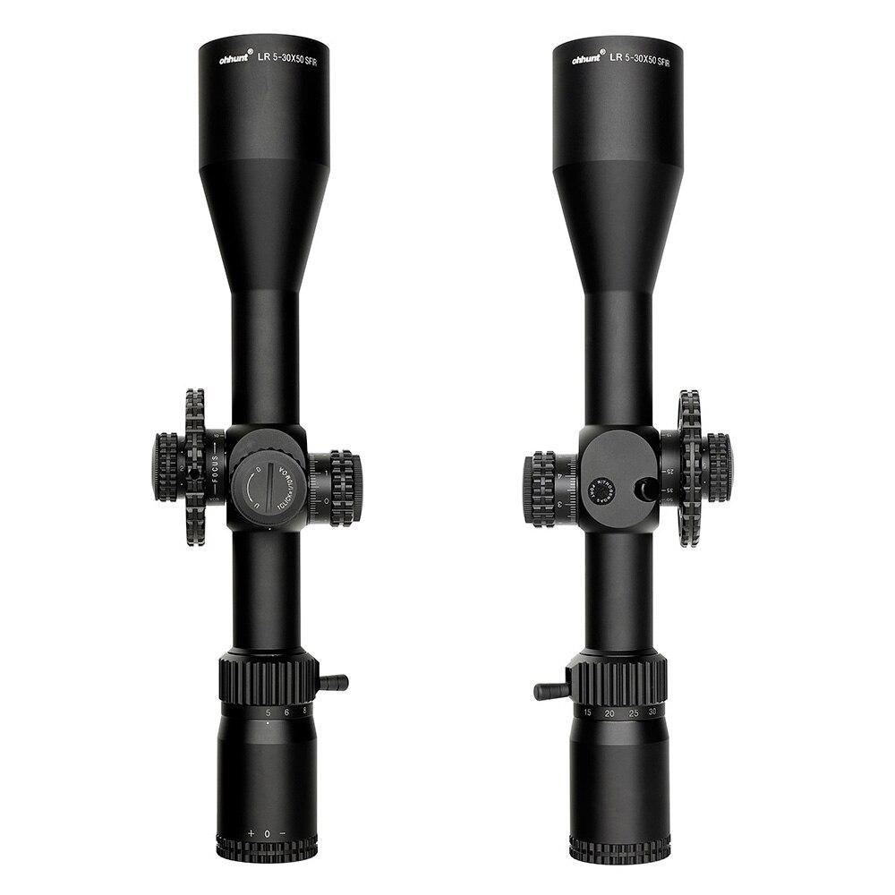 Ohhunt tático lr 5-30x50 sfir caça scope