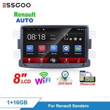 Essgoo 2din Car Radio 8'' Android 8 Car Multimedia Player GPS Wifi Mirror link For Renault Sandero Duste Logan Dokker Autoradio