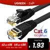 Ugreen Ethernet Kabel Cat6 Lan Kabel Utp Cat 6 Rj 45 Netwerk Kabel 10M/50M/100M Patch Cord Voor Laptop Router RJ45 Netwerk Kabel