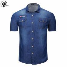 Little Raindrop Men Shirt  Summer Solid Double Pocket Mens Short Sleeve Shirt  High Quality Cotton Male Shirt Oxford Shirt Men bold stripe cotton blends mens chest pocket shirt