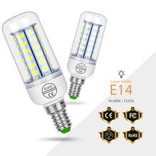 цена на E27 220V LED Lamp E14 Corn Bulb 3W 5W 7W 9W 12W 15W Lampada LED 240V Light GU10 Chandelier Lamp 5730 Energy Saving Light Bulb