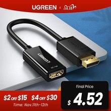 Адаптер Ugreen 4K для порта дисплея, Адаптер DP к HDMI 1080P, кабель конвертер для порта дисплея для ПК, ноутбука, проектора, адаптер для порта дисплея в HDMI