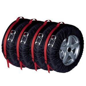 Image 3 - 4Pcs 스페어 타이어 커버 케이스 폴리 에스터 범용 자동차 자동 타이어 보관 가방 자동차 타이어 액세서리 차량 휠 수호자