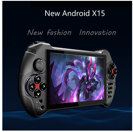 Powkiddy X15 Andriod Handheld Game Console 5.5 INCH 1280*720 Screen MTK8163 quad core title=