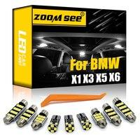 100% blanco perfecto libre de Error bombilla LED tipo Canbus interior mapa Kit de luz de techo para BMW X1 E84 X3 E83 F25 X5 E53 E70 X6 E71 (00-15)