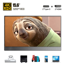 15,6 typ C PD HDMI 4K tragbare monitor LCD bildschirm ultra dünne für Telefon PC computer laptop gaming ps4 Schalter Xbox display USB C