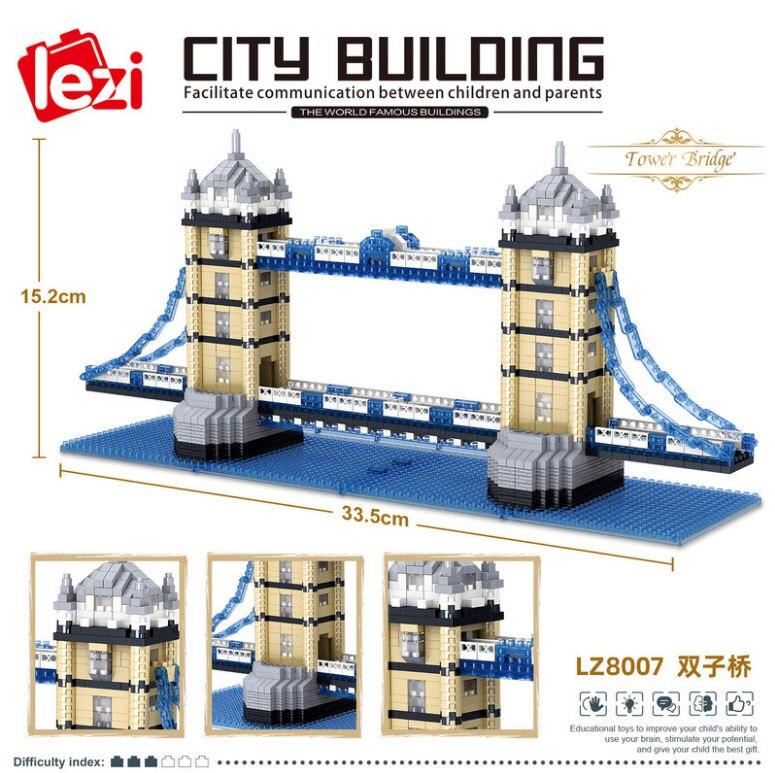 Balody World Famous Architecture Diamond Building Blocks Toy Taj Mahal Vassili Church Big Ben London Bridge 24