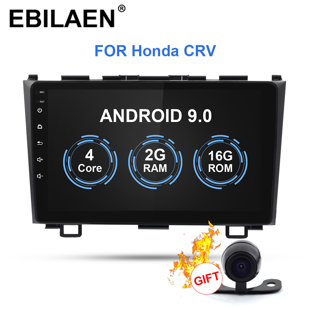 EBILAEN Android 9.0 Auto Multimedia-Player Für <font><b>Honda</b></font> <font><b>CRV</b></font> CR-V 2006-<font><b>2011</b></font> 2Din Auto AutoRadio Stereo DVD GPS Navigation image